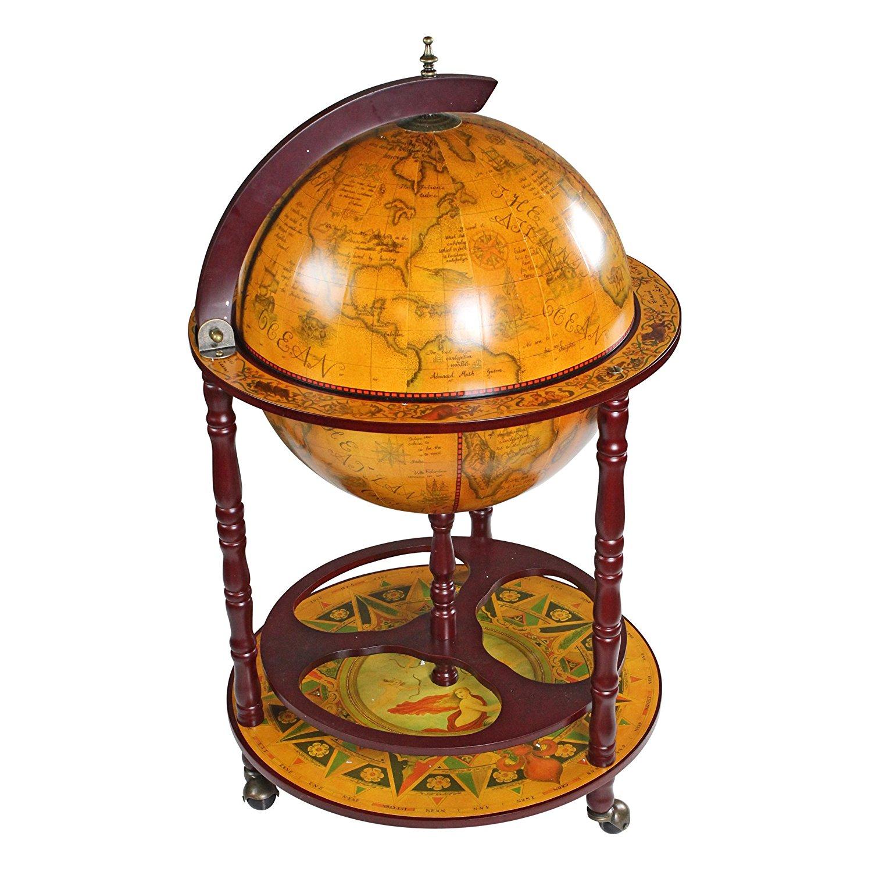 Alkohol Aufbewahrung Möbel holz globus weltkugel bar kaufen toscano barglobus aus holz neu