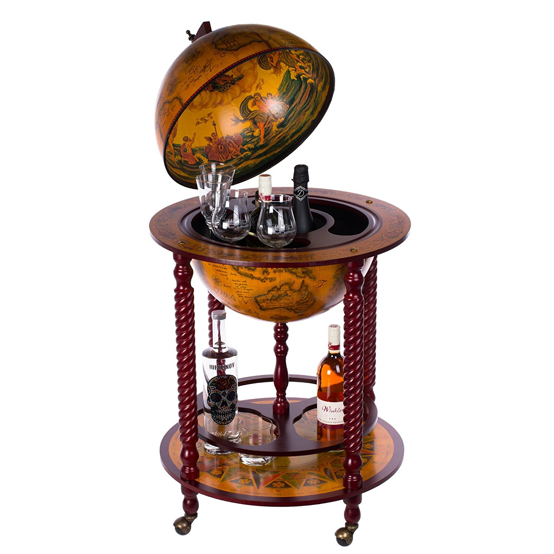 ▻ holz globus minibar für zuhause ++ 6 moderne globus bars ++, Wohnzimmer